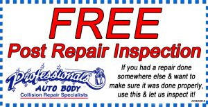 Free post repair copon