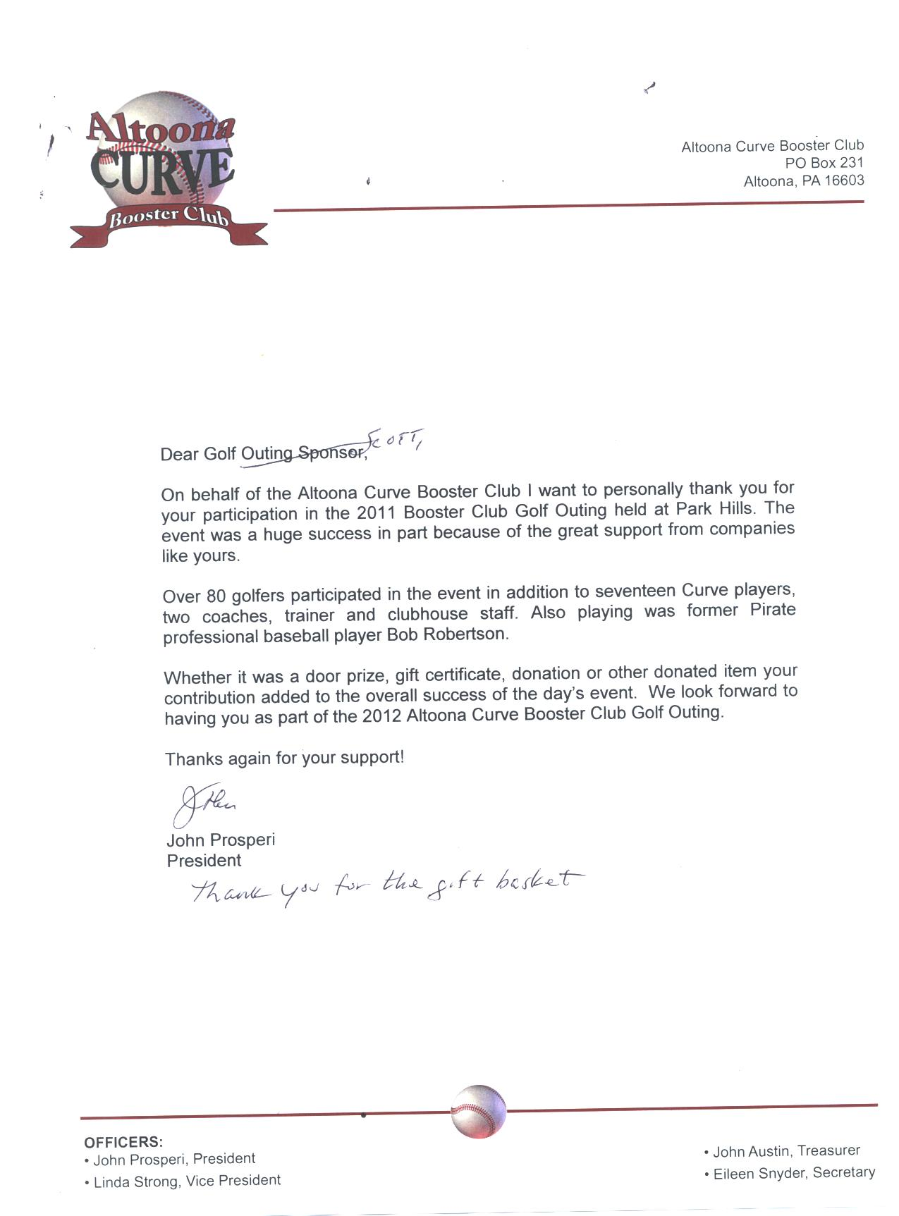 Professionals auto body altoona pa a thank you letter for our participation in operation sos a expocarfo